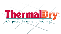 ThermalDry® carpeted basement flooring