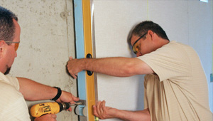 installing a basement wall finishing system in Galloway