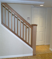 Renovated basement staircase in Springfield