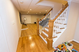Finishing touches for a remodeled basement in Marysville