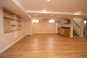 Basement finishing flooring in Delaware & nearby