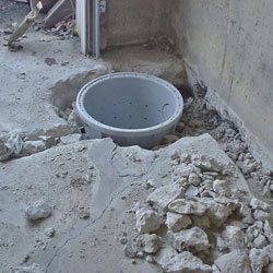 Placing a sump pit in a Grove City home