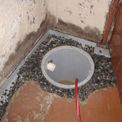 Installing a sump in a sump pump liner in a Columbus home