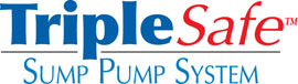 Sump pump system logo for our TripleSafe™, available in areas like Lucasville