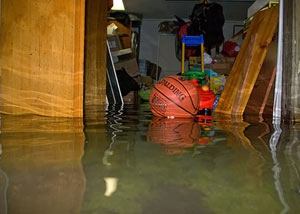 A flooded basement bedroom in Circleville