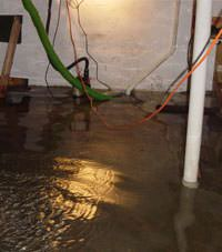 Several feet of floodwaters in a Bellefontaine basement