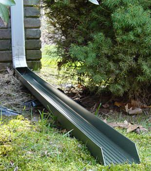 Gutter downspout extension installed in Marietta